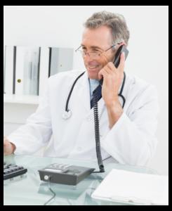 médecin au téléphone FISI
