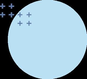 Element de design rond avec croix