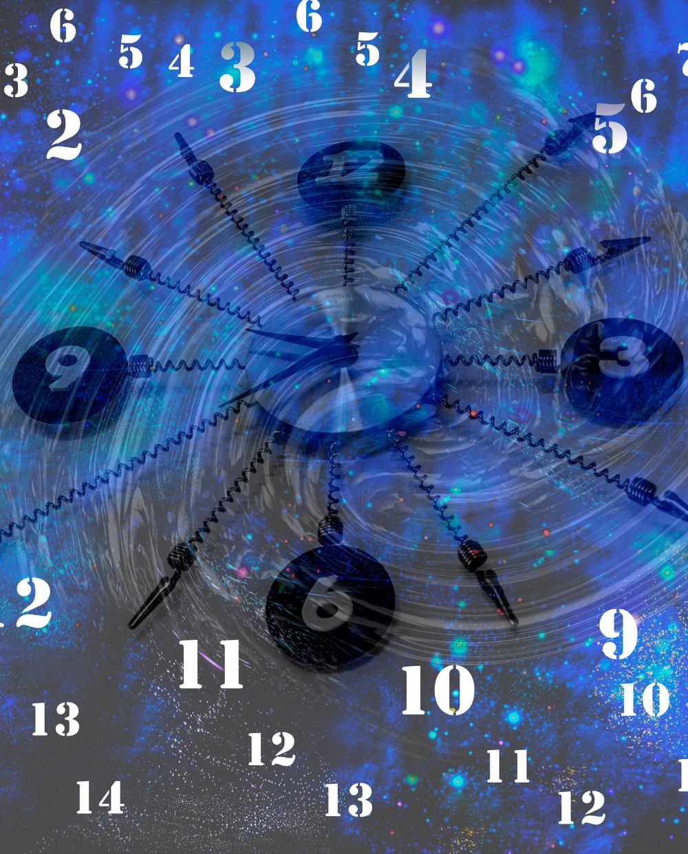 Horloge avec des chiffres gain de temps