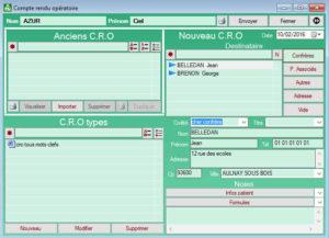 Interface compte rendu opératoire FISImed