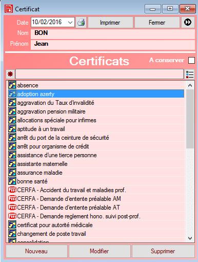 Interface fisimed certificats
