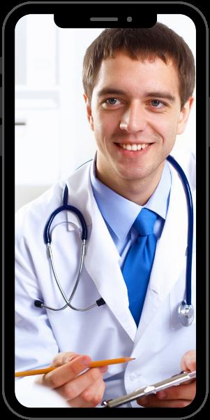 Médecin en consultation FISI